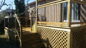 Patio, terrasse, deck, balcon et clôture en bois traité!!!