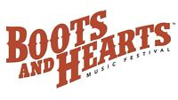 2 General Admission Full Event Tickets to Boots and Hearts