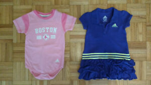 Cache-couche Adidas (Red Sox) + Robe Adidas