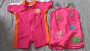 Size 3-6 month bathing suits (both for $6)