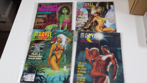 Marvel Suimsuit illustrated magazine X-Men, Rogue, She Hulk,etc.