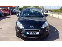 2016 Ford Ka 1.2 Zetec Black Edition 3dr Manual Petrol Hatchback