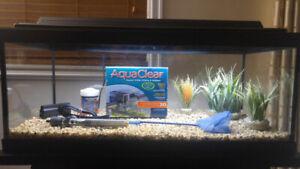 20gal long aquarium fish tank fully equipped