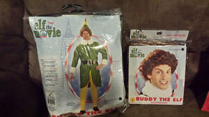 BRAND NEW Buddy the Elf Costume with Wig Windsor Region Ontario image 1