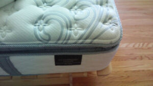 twin size mattress with cover and duvet & skirt for sale