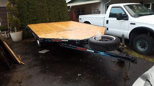 skidoo cut side utility flat deck trailer - $1100 (maple ridge)