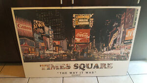 """New York Times Square """"The Way It Was"""" Light Up Sign"""