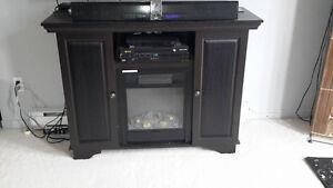 Foyer électrique meuble de tv