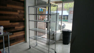 Stainless steel rack.