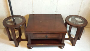 Like New Dark Oak Solid Wood Coffee and End Tables, 2 years old St. John's Newfoundland image 2