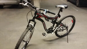 Mtn. Bike with Shock Suspension - Red/Blk/Wht