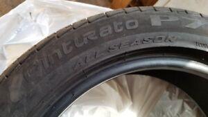 Deux pneus Pirelli Cinturato P7 225 50R17