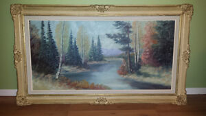 Framed Painting for sale. 27 1/2 x 47 1/2 || $90 REDUCED Sarnia Sarnia Area image 1