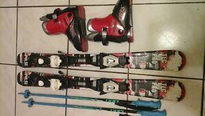 90cm skis + 19.5 boots + 80cm poles