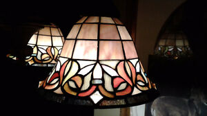Beautiful 3 shade Stained glass hanging light fixture