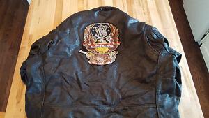 Rare 'Smith & Wesson' Leather Jacket - Size XXL