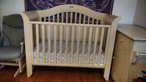 Baby Crib and Dresser (Morigeau-Lépine) and Chair (Dutailier)
