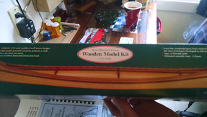 Bear mountain canoe wooden model kit