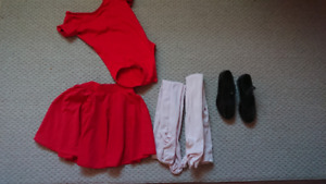 Girls 6-8 Dance outfit and Tap Shoes