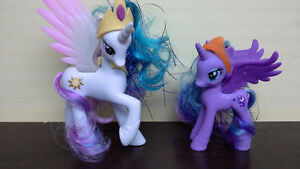 My Little Pony Celestia & Luna with sparkle, brushable hair