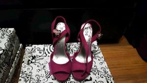 Pink brash heels