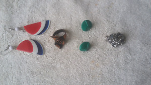 Costume Ring and Earrings