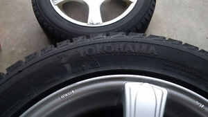 4 Winter tires and rims 205/55/r16 5-108 5-100 bolt Kitchener / Waterloo Kitchener Area image 6