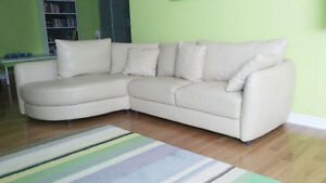 Sectionnel Moderne Cuir