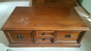 Two way draw coffe table