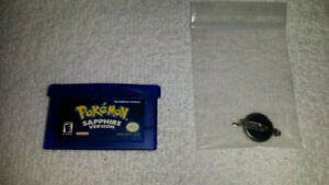 Nintendo Gameboy Advanced Pokemon Sapphire *Fresh Save/New Batt.