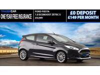Ford Fiesta 1.0 EcoBoost 2014.5 Zetec S - FREE INSURANCE!!!