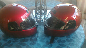 2 Matching Helmets XL and Small