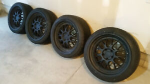 """18"""" Sporty Rims and Tires - One Damaged Rim"""
