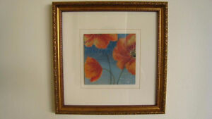 Flower Paintings in Glass Frames