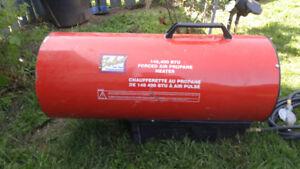 145,000BTU Forced Air Propane Heater