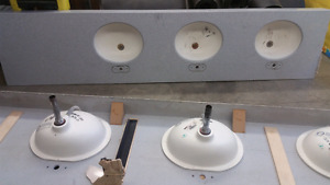 3 sink solid surface countertops