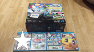 GREAT Nintendo Wii U Bundle 4 Games all Cords Controller MARIO!