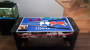 Table de hockey sur air, pool ,ping pong ,baseball