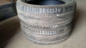 Pair of 2 Pirelli Scorpion Verde AS 255/55R20 tires (60% tread l