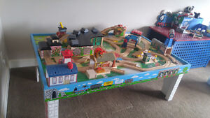 Thomas the Train Table, Trains, Track and Storage Stool