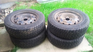 SOLD--Thanks for the interest--Steelies (Rims) with Winter Tires