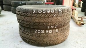 Pair of 2 BFGoodrich Winter Slalom KSI 205/70R15 WINTER tires (6