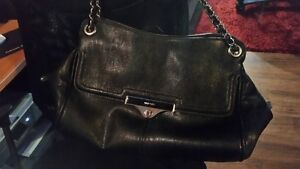 Black Nine West Purse with chain straps