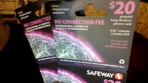 Safeway Pre-paid long distance phone cards
