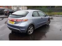 2006 56 HONDA CIVIC 1.8i-VTEC SE 5 DOOR,GREAT VALUE.12 MONTHS MOT.6 SPD GEARBOX.
