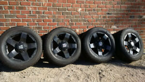 Brand new this year !!! Black Iron rims and on winter tires