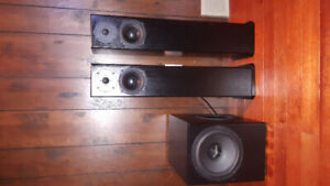 Totem Speakers and Sub