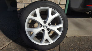 SNOW TIRES - 4 NITTO SN2 215/50R17 - w' Mazda Wheels Excellent C