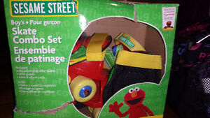 Elmo grow with me skate combo set