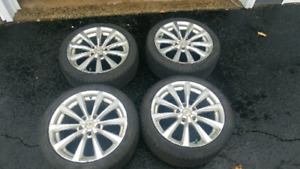 """SET OF EXCELLENT CONDITION 17"""" PIRELLI TIRES AND ALLOY RIMS"""